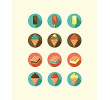 Ice-cream Icons Photographic Print