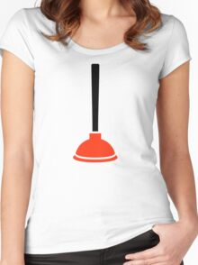 Plunger plumber Women's Fitted Scoop T-Shirt