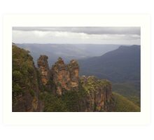 The Three Sisters @ Echo Point, Katoomba - Blue Mountains (NSW) Art Print