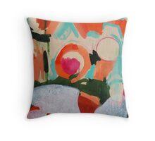 bubble-up orange tokyo sky Throw Pillow