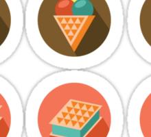 Ice-cream Icons Sticker