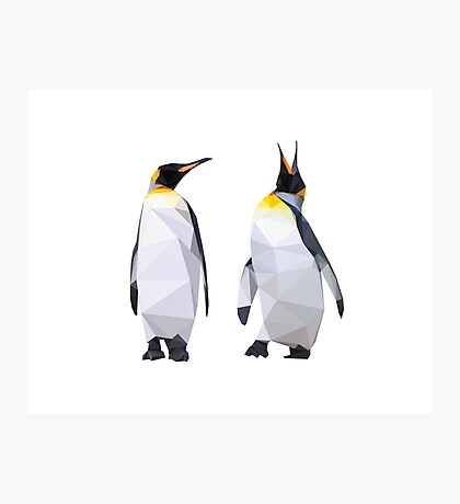 Geometric Penguins Photographic Print