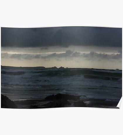 Atlantic Ocean at Twilight Poster