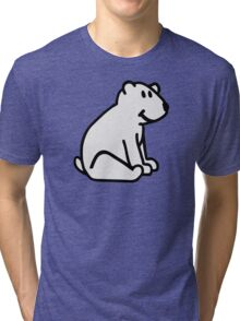 Comic polar bear Tri-blend T-Shirt