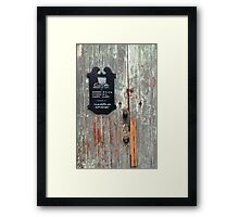 Casa Dahlia Framed Print