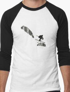 Don't Make a Mountain Out of a Mogul - Skier Men's Baseball ¾ T-Shirt