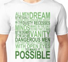 'All Men Dream' Quote [GREEN] Unisex T-Shirt