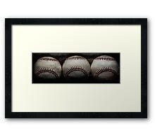Vintage baseballs Framed Print