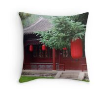 House Lanterns Throw Pillow