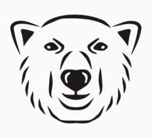 Polar bear head face Baby Tee