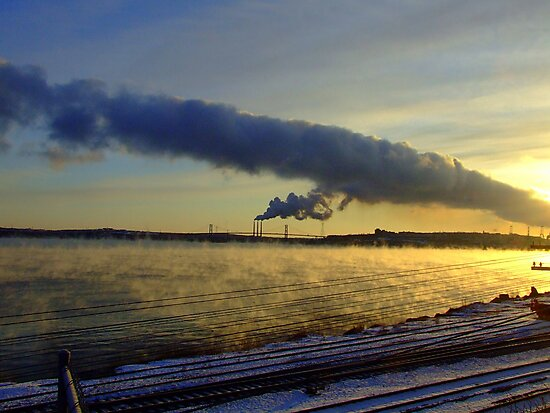 Power Station With Smoke on the Water by murrstevens