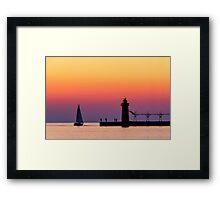 South Haven Twilight Framed Print
