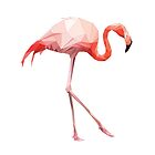 Pink Polygon Flamingo (2) by VitaSun