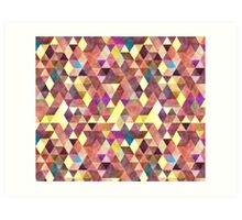 Mixed colors triangle Art Print