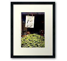 Stringless Beans Framed Print