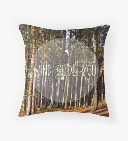 wind guide you Throw Pillow