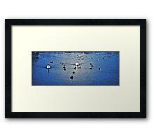Brickfield Pond  Rhyl  HDR Framed Print