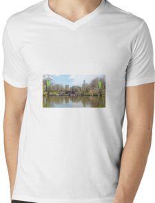 Bethesda Fountain Mens V-Neck T-Shirt