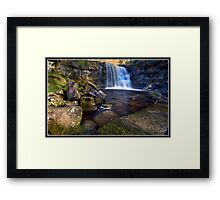 East Gill Waterfall Framed Print