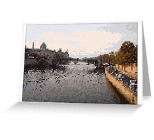 Pixel Art Cities: Paris. Seine Greeting Card