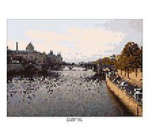 Pixel Art Cities: Paris. Seine Photographic Print