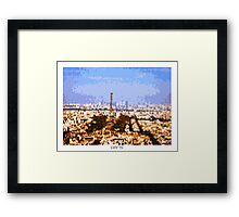 Pixel Art Cities: Paris Panorama Framed Print