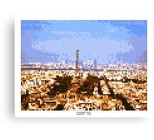 Pixel Art Cities: Paris Panorama Canvas Print