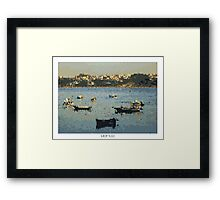 Pixel Art Cities: Porto. Boats Framed Print