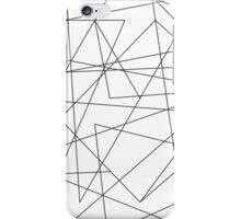 Black Abstract Geometric Line Pattern iPhone Case/Skin