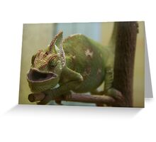 Hungry Reptile Greeting Card