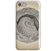 Owl ink illustration iPhone Case/Skin
