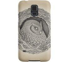 Owl ink illustration Samsung Galaxy Case/Skin