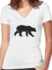Polar bear Women's Fitted V-Neck T-Shirt