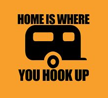 Home is where you hook up Womens Fitted T-Shirt