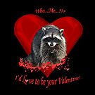 Raccoon Valentine Gifts by Val  Brackenridge