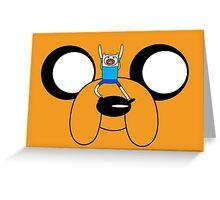 Finn & Jake Adventure Time Greeting Card