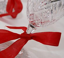 Red Ribbon of Elegance by Glitter