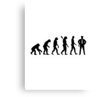 Evolution Police Canvas Print