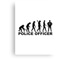 Evolution Police Officer Canvas Print