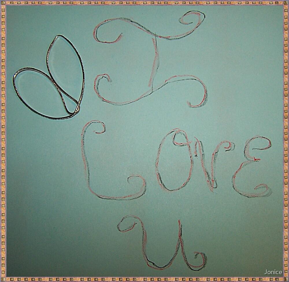Michael's I Love U Heart by Jonice