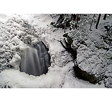 Icy Falls and Gorge Photographic Print