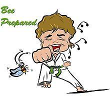 Green Belt Lady Martial Artist by Drawsome
