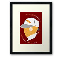 Medical Coder, Detective at Work (white/Orange) Framed Print