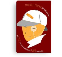 Medical Coder, Detective at Work (white/Orange) Canvas Print