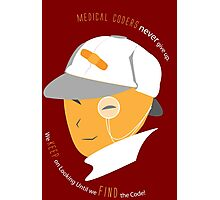 Medical Coder, Detective at Work (white/Orange) Photographic Print