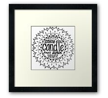 Light someone's candle zentangle medallion Framed Print