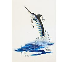 Flying Billfish Photographic Print