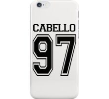 CABELLO BASEBALL TEE iPhone Case/Skin