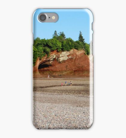 St. Martins' Caves at Low Tide iPhone Case/Skin