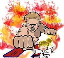 Martial Arts On Fire by Drawsome